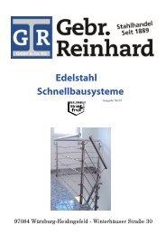 Katalog für Edelstahl Schnellbausysteme - Gebr. Reinhard