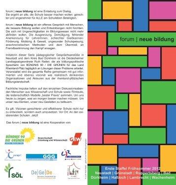 forum   neue bildung - EINE Schule für ALLE