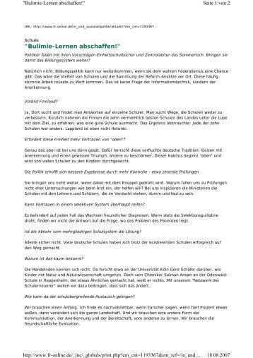 """Bulimie-Lernen abschaffen!"" - Reinhard Kahl"