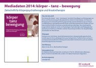Mediadaten 2013: körper – tanz – bewegung - Ernst Reinhardt ...