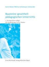 Bausteine sprachheil - Ernst Reinhardt Verlag