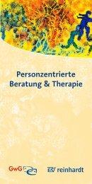Personzentrierte Beratung & Therapie - Ernst Reinhardt Verlag