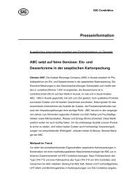 Presseinformation - SIG Combibloc