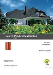 Umweltdeklaration für Braas Dachsteine