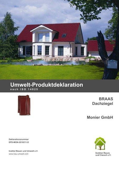 Umweltdeklaration für Braas Dachziegel