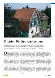 Steildach - Kriterien für Dachdeckungen - Braas