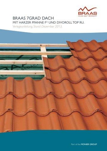 Braas 7GRAD Dach mit Harzer Pfanne F+ und Divoroll Top RU