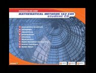Selected Screen Shots from Student CD - Pearson Australia