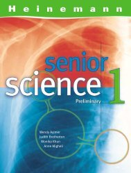 Heinemann Senior Science 1 - Unit 3.2