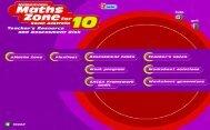 Selected screen shots for Heinemann Maths Zone 10 SA TRAD