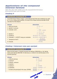 Applications of the compound interest formula
