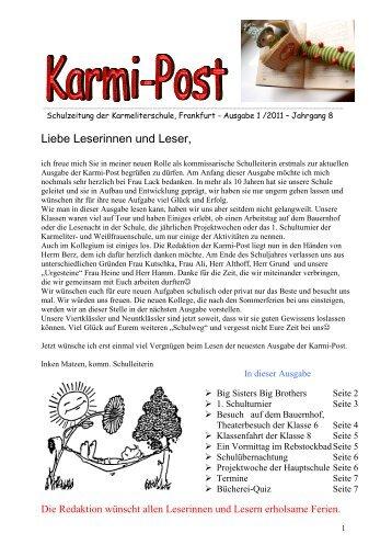 Schulzeitung 01.06.2011 - Karmeliterschule