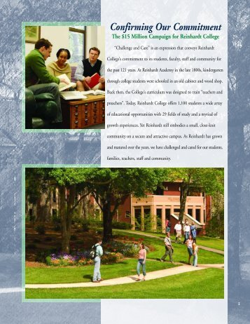 Confirming Our Commitment - Reinhardt University