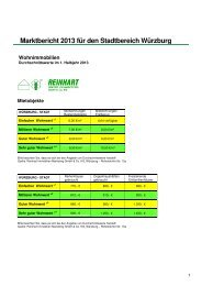 Marktbericht 1. Halbjahr 2013 - Reinhart Immobilien Marketing