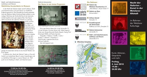 Nacht der Galerien - Wetzlar