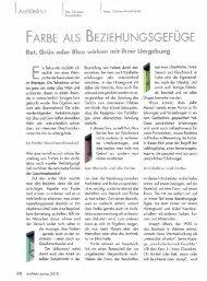 FARBE ALS BEZIEHUNGSGEFÜGE - by reinmein.info