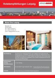Hotelempfehlungen Leipzig - Reinraum-Akademie