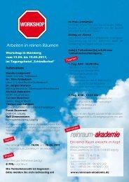 Seminarflyer - Reinraum Akademie