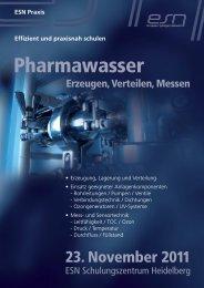 Pharmawasser - Reinraum Akademie