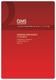SEMINAR GMP-BASICS 11.05.2012 - Reinraum Akademie