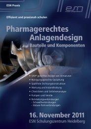 Pharmagerechtes Anlagendesign - Reinraum Akademie