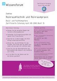Seminarflyer - Reinraum-Akademie