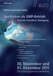 30. November und 01. Dezember 2011 - Reinraum-Akademie