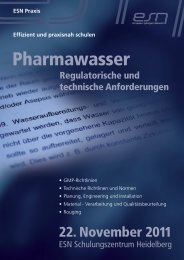 Pharmawasser - Reinraum-Akademie