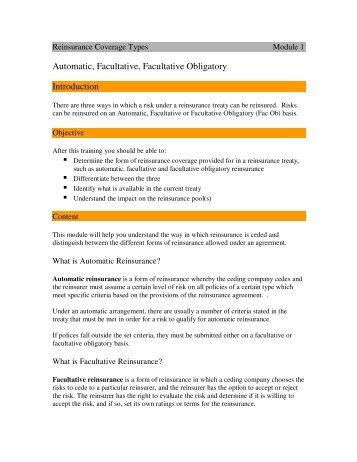 Automatic, Facultative, Facultative Obligatory Introduction