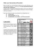 können Sie die Wahlinformationen Ausgabe 2 der OWL ... - Reinsfeld - Seite 2