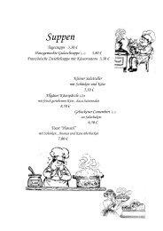 Speisekarte des Restaurant Landgasthof Kuhl - Reinsfeld