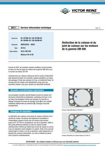 Distinction de la culasse et du joint de culasse sur les moteurs de la ...