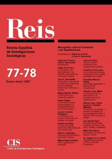 Portada y primeras - Reis - Revista Española de Investigaciones ...