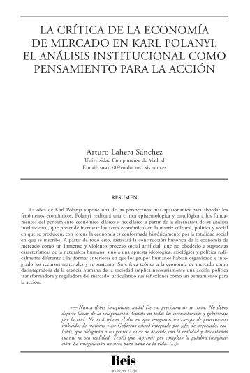 La crítica de la economía de mercado en Karl Polanyi: el ... - Dialnet