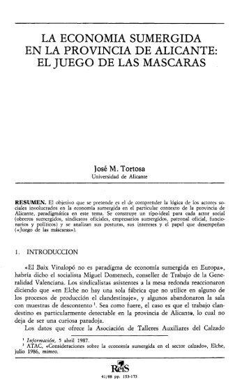 La economía sumergida en la provincia de Alicante: El ... - Dialnet