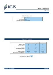 Sales Comparables Summary Statistics - Reis.com