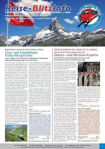 Reise-BlitzInfo 06/2013 - Reise-Service G. Reiner, Friedberg