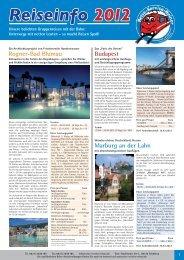Reise-Info 2012.indd - Reise-Service G. Reiner, Friedberg