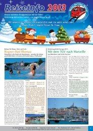 Reiner Reise-Info 2013.indd - Reise-Service G. Reiner, Friedberg