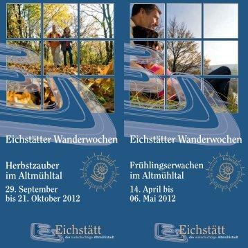 Eichstätter Wanderwochen Eichstätter Wanderwochen - Reisemobil ...