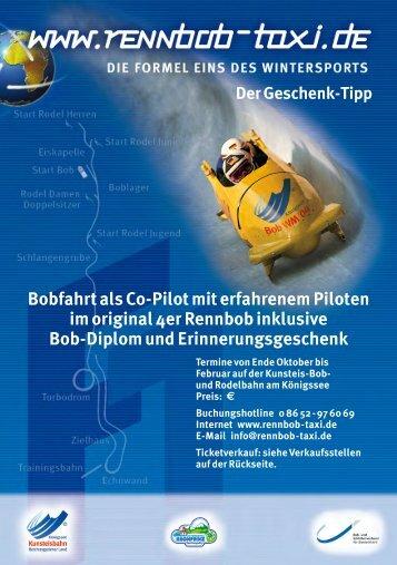 Bobfahrt als Co-Pilot mit erfahrenem Piloten im original 4er ...