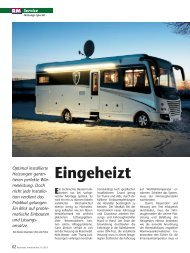 Eingeheizt - Reisemobil International