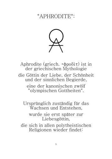"""""""APHRODITE"""":"""