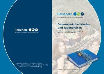 Datenschutz bei Kinder- und Jugendreisen - Reisenetz