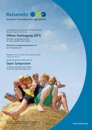 Offene Fachtagung (OFT) Open Symposium - Reisenetz