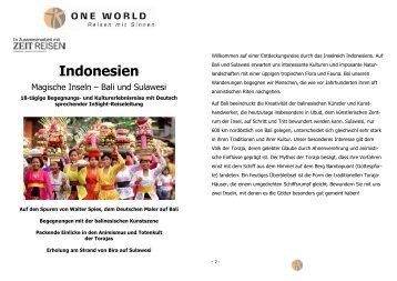 Detailinformation Indonesien - Magische Inseln - Bali & Sulawesi 2013