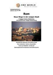 Neue Wege in der ewigen Stadt 2013 - ONE WORLD Reisen mit ...