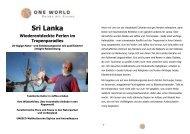 Sri Lanka - ONE WORLD Reisen mit Sinnen