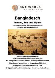 Detailinformation Bangladesch - ONE WORLD Reisen mit Sinnen