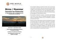 Detailinformationen Birma - Faszination des Unbekannten 2013